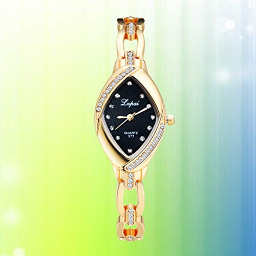Lvpai P128 Women's Rhinestone Wrist Watches Steel Bracelet Analog Quartz