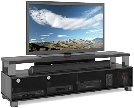 Pemberly Row 75″ 2 Tier Entertainment Center TV Stand Console