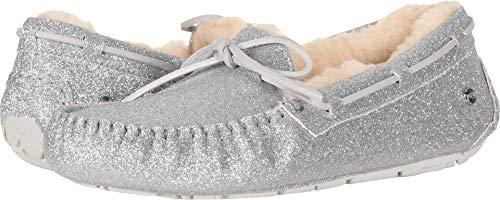 UGG Women's W Dakota Sparkle Slipper, Silver, 8 M US (Silver Slipper)