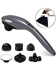 Handheld Massager - Cordless Electric Hand Held Deep Tissue Massager for Neck and Back Muscle Shoulder Foot Leg Full Body Massage Pain Relief