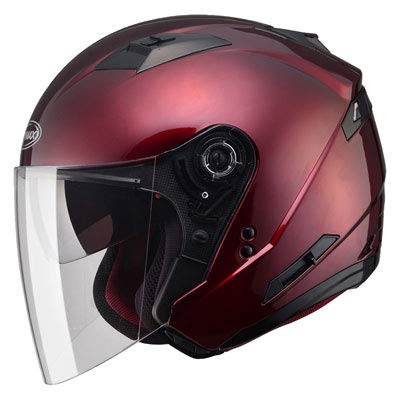 GMAX Unisex-Adult Style G3770106 Of77 Open Face Helmet Wine Red l (Large)