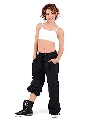 Child Cargo Pants with Drawstring Waist,BP104CBLKL,Black,Large