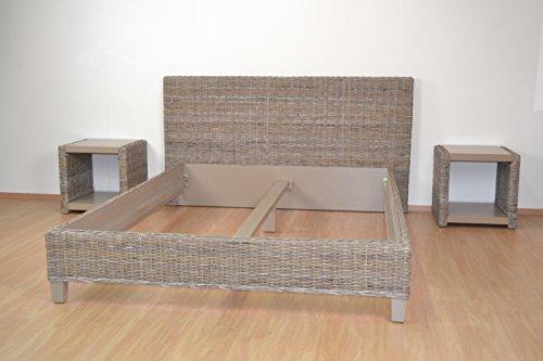 moebel direkt online Rattanbett _ in 3 Größen lieferbar Größe 3: Liegefläche 180x200 cm