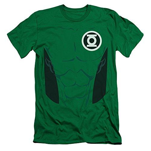 [Green Lantern DC Comics Kyle Rayner Green Lantern Costume Adult Slim T-Shirt] (Kyle Rayner Costumes)