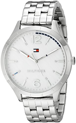 Tommy Hilfiger Women's 1781546 Casual Sport Analog Display Quartz Silver Watch