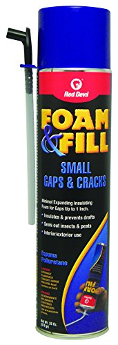 Red Devil 0920 Foam & Fill Small Gaps & Cracks Expanding Polyurethane Foam Sealant, 20-Ounce, Off White (Fill Pipe)