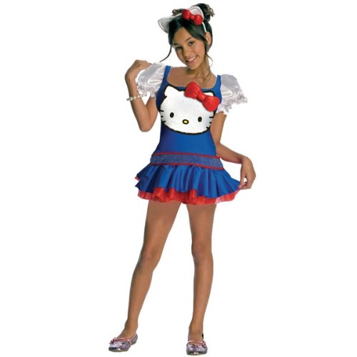 Hello Kitty Dress (Blue) Child Costume Size Medium (Hello Kitty Dresses For Adults)
