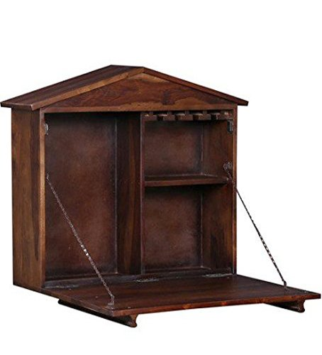 SNG Solid Wood Wall Hanging Bar Cabinet: Amazon.in: Home & Kitchen