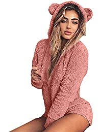 2812bb90e2 2018 Women s Hooded Autumn Cute Shorts Rompers Home Service Jumpsuit