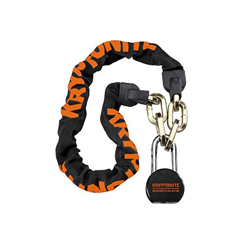 Kryptonite Messenger Bicycle Chain Lock with Moly Bike Padlock (100cm) (Best Padlock For Bike Chain)