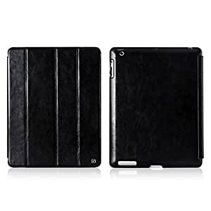 Bkjhkjy 360 Degree Rotating Retro Style Solid Color Foldable Full Body Case with Stand for iPad 2/3/4 (Assorted Colors) , Black