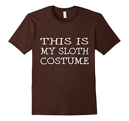 Mens This is My Sloth Costume T-Shirt Last Minute Halloween Party 3XL (Last Minute Halloween Costumes College)