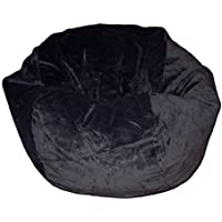 Ahh! Products Microsuede Black Washable Kid Bean Bag Chair
