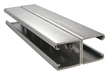 Online Metal Supply 316 Stainless Steel Slotted Strut Channel 1-5//8 x 1-5//8 x 12 ga x 36 inches