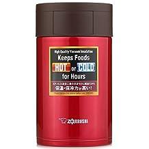 ZOJI Stainless Steel Food Jar, 19-Ounce/0.55-Litre, Metallic Red