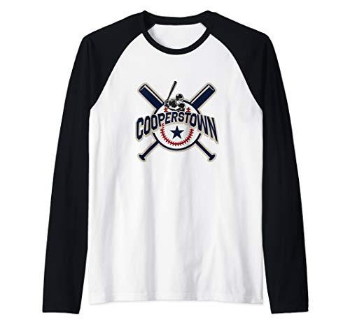 Cooperstown New York Baseball Game Family Vacation Raglan Baseball Tee