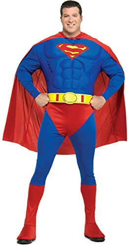Plus Size Superman Costume (Deluxe Muscle Chest Superman Adult Costume - Plus Size)