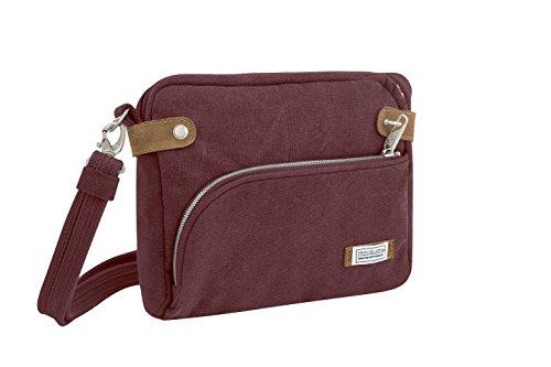 Travelon Anti-theft Heritage Crossbody Bag, Wine by Travelon
