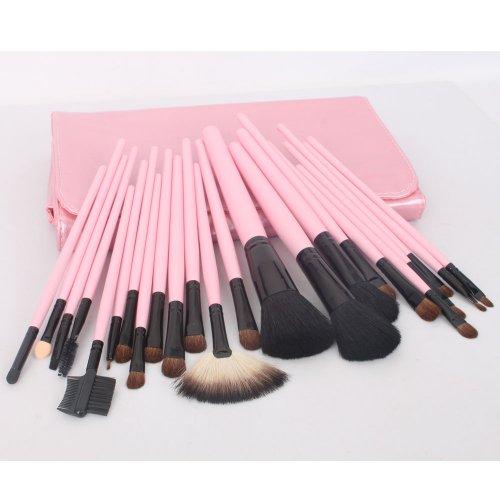 23pcs Pink Профессиональная Косметика Макияж Макияж кисти Кисти Set Комплект с сумка