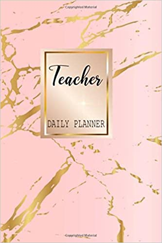 teacher daily planner pink marble to do list for teacher