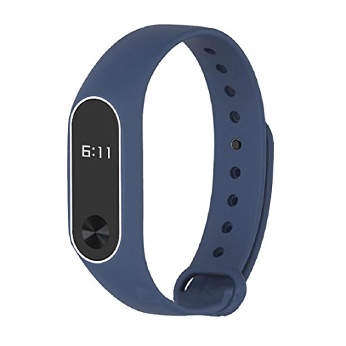 For Xiaomi Mi Band 2, Mchoice New Fashion Original Silicon Wrist Strap WristBand Bracelet Replacement for Xiaomi Mi Band 2 (Blue) (2 Colors Oled Display)