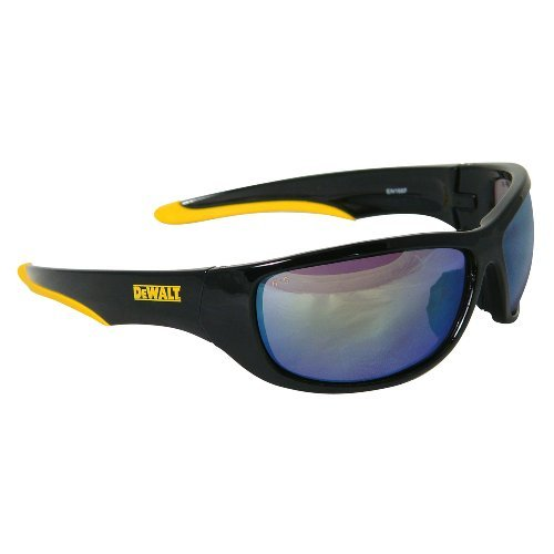 DeWalt DPG94-YC Dominator Safety Glasses, Yellow Mirror Lens