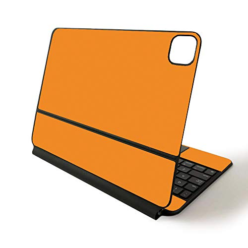MightySkins Skin for Apple Magic Keyboard for iPad Pro 11-inch (2020) - Sushi | Protective, Durable, and Unique Vinyl Decal wrap Cover, Solid Orange, APIPSK1120-Solid Orange