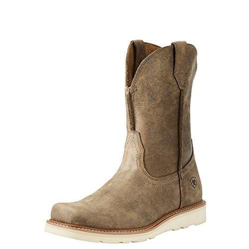 Ariat Men's Rambler Recon Square Toe Work Boot, Brown Bomber