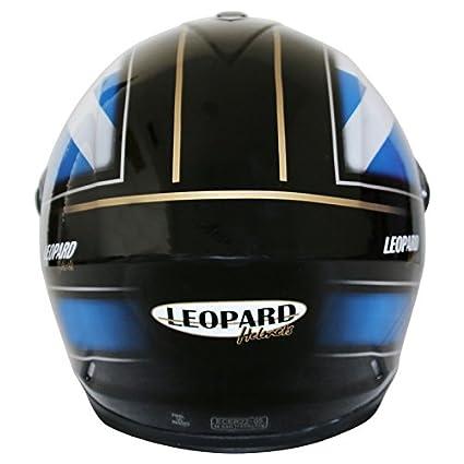 57-58cm Leopard LEO-828 Casque Moto Int/égral pour Scooter Chopper Casque de Moto Double Visi/ère Homme et Femme Demi-Jet ECE Homologu/é Bleu//Noir//Blanc M