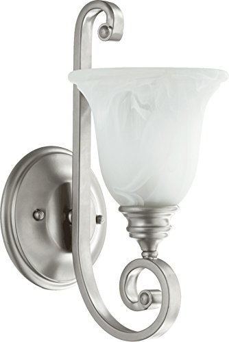 - Quorum 5454-1-64 Bryant Wall Sconce, 1-Light, 100 Watts, Classic Nickel