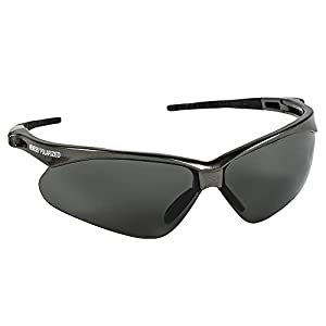 Jackson Safety V30 Nemesis Polarized Safety Glasses (28635), Polarized Smoke Lenses, Gunmetal Frame