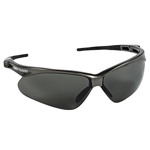 Jackson Safety 28635  V30 Nemesis Polarized Safety Glasses  Polarized Smoke Lenses, Gunmetal - Nemesis Sunglasses