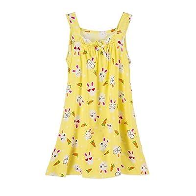 Cosweet Lovely Little Girl's Summer Nightgown- Kids Nightgowns Girls Sleeveless Nightdress Sleep Dress for 6-12 Years