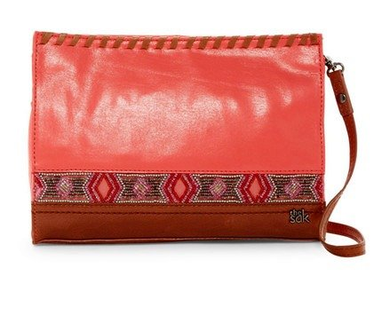 The Sak Iris Crossbody Coral Bead Handbag Purse