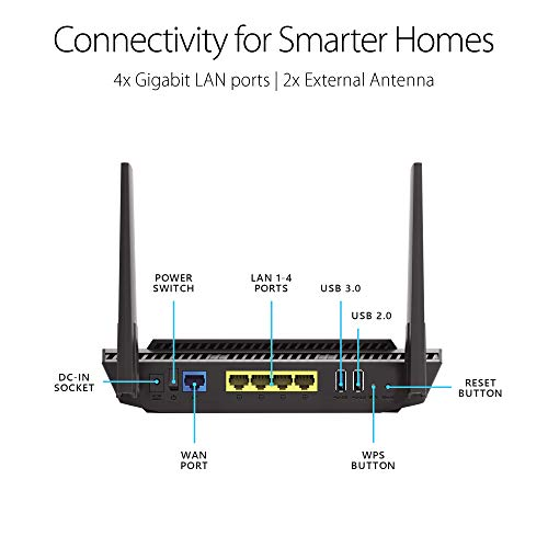 Image of ASUS AX1800 WiFi 6 Router (RT-AX56U) - Dual Band Gigabit
