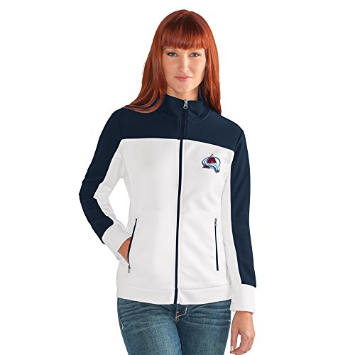 Colorado Avalanche Nhl Light - NHL Colorado Avalanche Women's Play Maker Track Jacket, Medium, White
