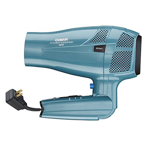 conair 1875 watt cord keeper hair dryer with folding handle import it all. Black Bedroom Furniture Sets. Home Design Ideas