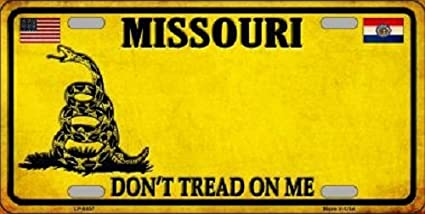 """Don/'t Tread On Me Novelty License Plate 6/"""" x 12/"""""""