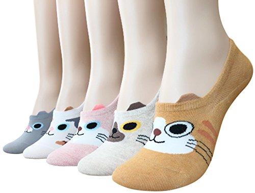 Womens Teen Girls Cute Kitten Casual Cotton Nonslip