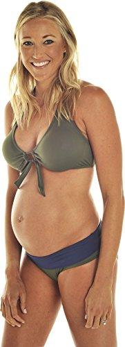 Prego Maternity Women's Roll Waist Olive Bikini - XS