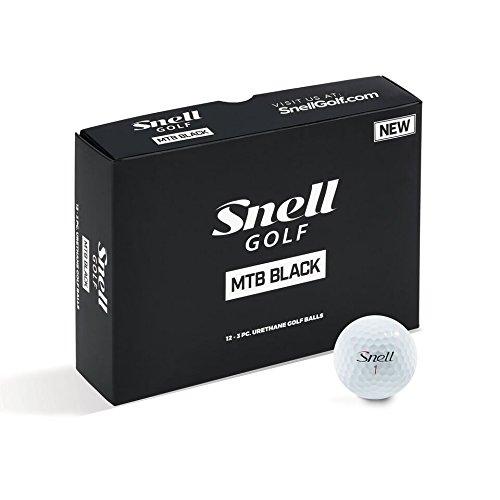 Snell MTB Black My Tour Golf Balls, White (One Dozen) by Snell Golf