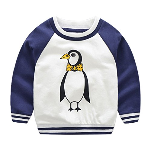 Youngate Little Boys Classic Raglan Sleeve Shirt Printed Animals T Shirts Top  Us 4T 4  Ignore Asia Label   Blue