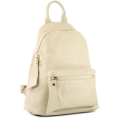 Modamoda T171a Donna In Zaino Cremebeige Citybag Borsa Ital Pelle De rxSqFwWHrp