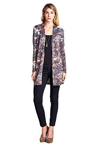 [ReneeC.][ReneeC. レディースカーディガンWomen`s Lightweight Open Front Multi Print Cardigan - Made In USA ](並行輸入品)