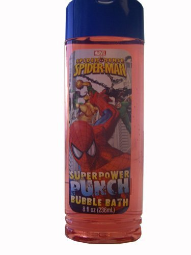 (Spiderman Superpower Punch Bubble Bath by MZB Accessories)