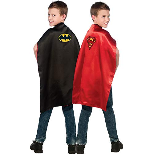 DC Comics, Reversible Batman and Superman Cape from Imagine by Rubie's