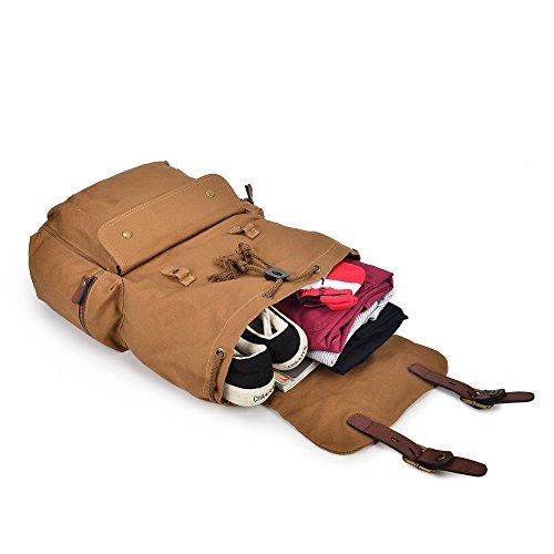 diudiu Herren Baumwolle Rucksack Canvas Tasche Freizeit Outdoor Rucksack groß Kapazität Rucksack Klettern Rucksack 20l-35l königsblau YjSnAhuwr