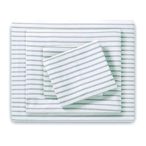 (HONEYMOON HOME FASHIONS Queen Sheet Set Yarn Dyed Green)