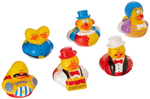 Fun Express Circus/Carnival Rubber Duck Party Favors Set (12 Piece) -