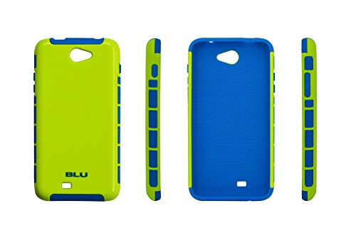 BLU CandyShield PC+TPU case for BLU Dash 5.5 D470a, D470i, D470u - Carrying Case - Retail Packaging (Yellow / Blue)